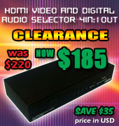 HDMI Digital Audio Selector 4 input : 1 Output  Clearance